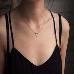 Buy FAMSHIN 2017 Simple Chains Necklaces Triangle Necklace Delicate Minimal Triangle Necklace For Women Charm Necklace Compass Necklace, Metal Necklaces, Silver Pendant Necklace, Bar Necklace, Silver Necklaces, Beaded Necklace, Necklace Price, Silver Jewelry, Fine Jewelry