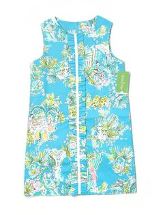 New Girl Lilly Pulitzer Originals Jungle Glam Toile Shift Dress Size 10 #LillyPulitzer #EverydayDressyHoliday