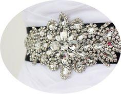 STARLA - Breathtaking Crystal Rhinestone Bridal Sash, Rhinestones Wedding Belt, Bridal Beaded Sash