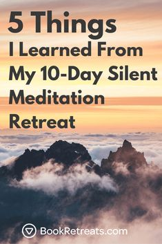 5 Crucial Things I Learned From My Silent Meditation Retreat - How does someone end up willingly go to a silent meditation retreat for 10 days? Meditation Retreat, Meditation Gifts, Meditation Benefits, Meditation Quotes, Daily Meditation, Chakra Meditation, Mindfulness Meditation, Meditation For Beginners, Yoga Poses For Beginners
