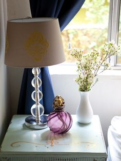 Fashion blogger Liz Cherkasova's vintage nightstand goodies.