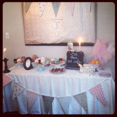 Winter Marie Antoinette themed bridal shower