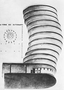 Mario Ridolfi, Torre dei ristoranti, 1928