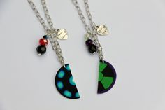 Science Bro's  Best Friend Necklaces ( Tony Stark and Bruce Banner )