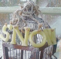 Brocante in de sneeuw  Shabby Chic Snow
