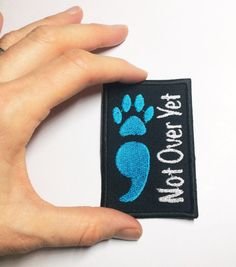 Bring awareness to suicide prevention with a custom color Semicolon patch. You choose the text and Semicolon color. Measures 2 x 3 Service Dog Training, Service Dogs, Dog Vest, Dog Shirt, Service Dog Patches, Psychiatric Service Dog, Military Dogs, Therapy Dogs, Semicolon Tattoo