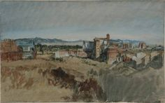 Joseph Mallord William Turner, 'View of Santi Giovanni e Paolo, Rome, from the Palatine Hill' 1819