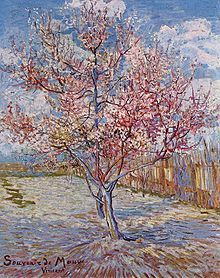 "Vincent van Gogh ○ ""Melocotonero en flor"" -  (1888). - (Wikipedia, la enciclopedia libre)"