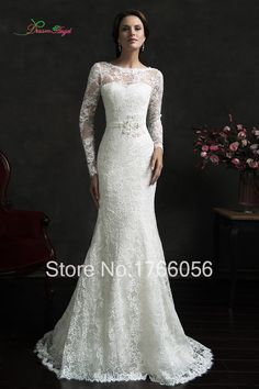 New Arrive Sexy Sheath Long Sleeve Lace Wedding Dress 2016 Fashion Appliques With Jacket Bridal Wedding Gowns Vestidos De Noiva-in Wedding Dresses from Weddings & Events on Aliexpress.com | Alibaba Group