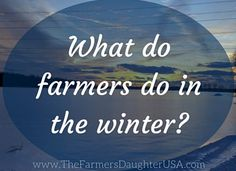 Have you ever wondered what family farmers do in the winter, especially if they don't have animals on the farm? We definitely do more than you think!