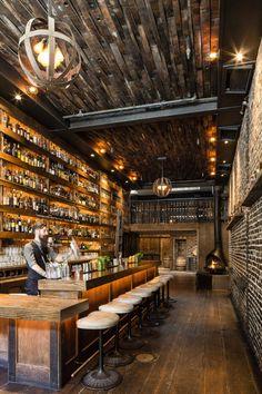 restaurant marketing They Needed Reclaimed wood wi - Pub Design, Brewery Design, Coffee Shop Design, Design Hotel, Back Bar Design, Sport Bar Design, Pub Interior, Bar Interior Design, Restaurant Interior Design