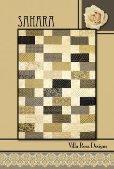 Sahara quilt pattern by Pat Fryer, Villa Rosa Designs