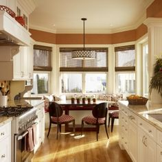 1000 images about kitchen nook ideas and front porch for Galley kitchen with breakfast nook