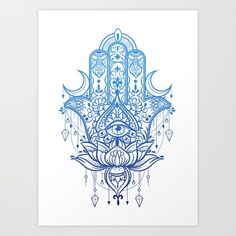 Hamsa Lotus Hand Art Print by misschatz Hamsa Design, Hamsa Tattoo Design, Tattoo Designs, Hamsa Hand Tattoo, Hamsa Art, Hamsa Tattoo Meaning, Hamsa Drawing, Tattoo Drawings, Body Art Tattoos
