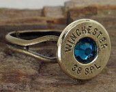 Bullet Ring Winchester 38 SPL AB Crystal by ShellsNStuff