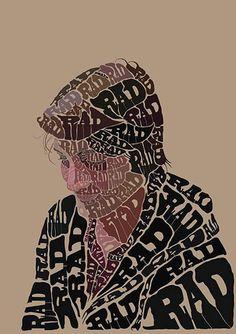 100 Amazing Typographic Portraits - 10 - Pelfind