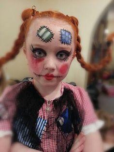 Creepy ragdoll makeup   Autumn   Pinterest   Makeup, Halloween ...