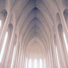 Inside Hallsgrimkirkja, Reykjavik. #arches #church #architecturelovers #iceland #instagood