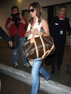 Rebecca Gayheart Carrying A Louis Vuitton Handbag