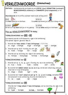 Worksheets 3rd Learning Grade Afrikaans Phonics Worksheets, School Worksheets, School Resources, Worksheets For Kids, Teaching Skills, Teaching Grammar, Teaching Aids, Afrikaans Language, Pre Primary School