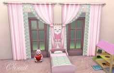 The Sims 4 CC || OleSims || Set of curtains