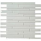Euro Glass Cane Solids, Random Bricks, Super White , Glossy & Frosted, White, Glass