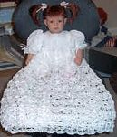 Free Crochet Pattern: Christening Dress.  This is the pattern I used to make blessing dresses for my girls.