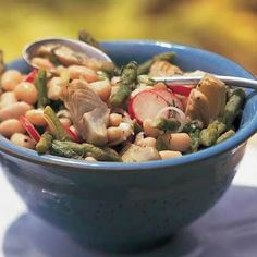 White Bean Salad with Asparagus and Artichokes by Cooking Light
