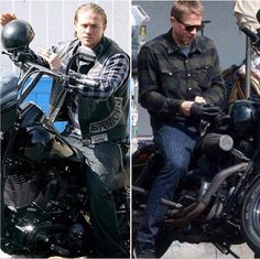 Charlie Hunnam as JAX and now May 2017