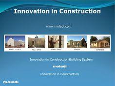 Innovation in Construction - moladi building system Concrete Houses, Building Systems, Innovation, Alternative, Villa, Construction, Building, Fork, Villas