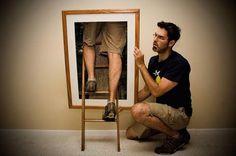 Man Climbing Into Frame