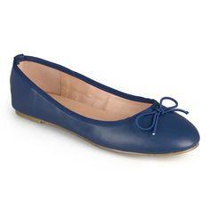 Journee Collection Vika Women's Ballet Flats, Girl's, Size: medium (6.5), Blue (Navy)