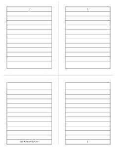 This foldable note paper gives you four quarter-sheet sized lined writing areas. Great for making booklets in school. Free to download and print