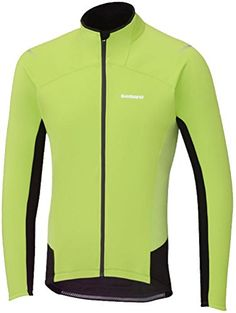 8a19ff409 Shimano 2015 Mens Performance Windbreak Long Sleeve Cycling Jersey  ECWJSPWLC22M Electric GreenBlack L    For more information