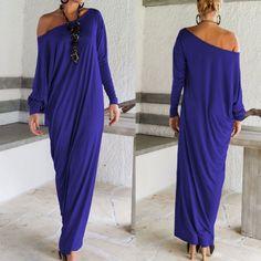 Elegant Long Sleeve Maxi Dress