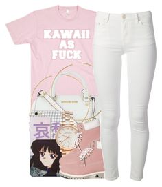 """""""Kawaii"""" by queenbrittani ❤ liked on Polyvore featuring moda, MICHAEL Michael Kors, H&M, Marc by Marc Jacobs, Timberland y Acne Studios"""