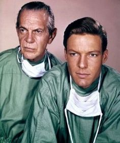 "Long before ""McDreamy"" and ""McSteamy"", the strikingly handsome ""Dr. Kildare"" graced our television sets. Swoon. One of television's first medical dramas, alongside ABC's Ben Casey, Dr. Kildare followed a young intern, Dr. James Kildare (played by Richard Chamberlain) as he learned the tricks of his trade. The program highlighted teachable moments from Kildare's mentor, Dr. Leonard Gillespie, portrayed by veteran actor Raymond Massey."