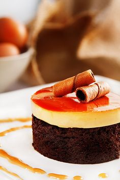 Leche Flan on Brownie