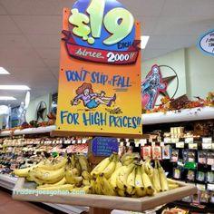 Trader Joe's Bananas  $0.19 each #TraderJoes #Bananas