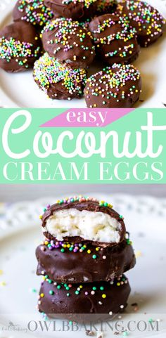 Coconut Cream Eggs Are An Easy, No Bake, Easter Dessert Idea These Candies Taste So Much Better Homemade And Are Fun To Make For Your Kids Easter Baskets These Coconut Eggs Are Made From Just A Few, Simple Pantry Basics. Easy Easter Desserts, Easter Recipes, No Bake Desserts, Dessert Recipes, Recipes Dinner, Spring Recipes, Easter Food, Candy Recipes, Easter Eggs