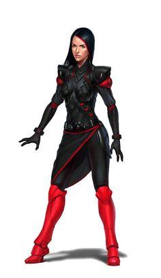 Female Human Rogue Assassin - Pathfinder PFRPG DND D&D d20 fantasy