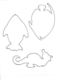 fish template-print on some colorful scrapbook paper or glitter paper for an easy decoration