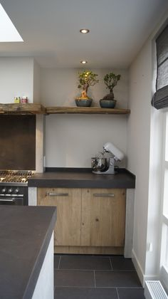 Fantastic modern kitchen room are available on our web pages. Read more and you will not be sorry you did. Modern Country Kitchens, Modern Kitchen Interiors, Contemporary Kitchen Design, Home Kitchens, Small Kitchens, Small Bathrooms, Contemporary Decor, Concrete Kitchen, Kitchenette