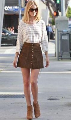 faldas de botones
