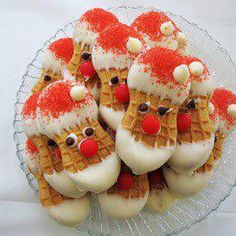 Nutter Butter Santa's @keyingredient #chocolate
