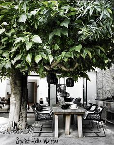 my scandinavian home: White, wood and black in Italy Indoor Outdoor, Outdoor Areas, Outdoor Rooms, Outdoor Dining Furniture, Outdoor Life, Outdoor Lounge, Outside Living, Garden Styles, Outdoor Entertaining