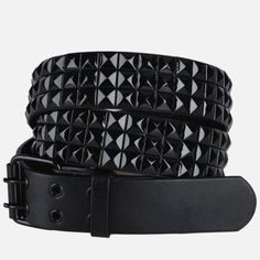 Bloody Home Black Studded Plus Size Belt