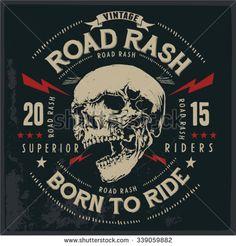Motorcycle vintage graphics, Road Trip, Biker T-shirt, t-shirt graphic, Motorcycle Emblem