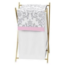 Sweet Jojo Designs Elizabeth Laundry Hamper in Pink/Grey - BedBathandBeyond.com