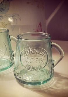 Our fantastic Cornish Cyder Farm miniature tankards! Available to buy and to hire.